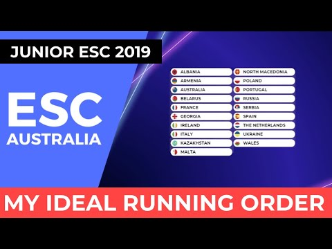 Junior Eurovision 2019 - My Ideal Running Order