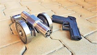 SIX Shots vs SIX Shots Powerful mini Cannon 9mm vs Gun 9mm ( cz p07 )