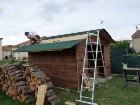 Construction d 39 un abri de jardin youtube - Fabrication d un bar en bois ...