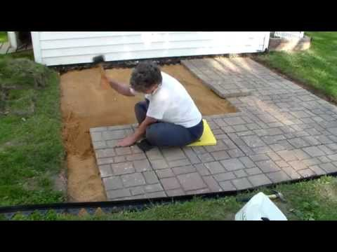 Building a paver patio and firepit