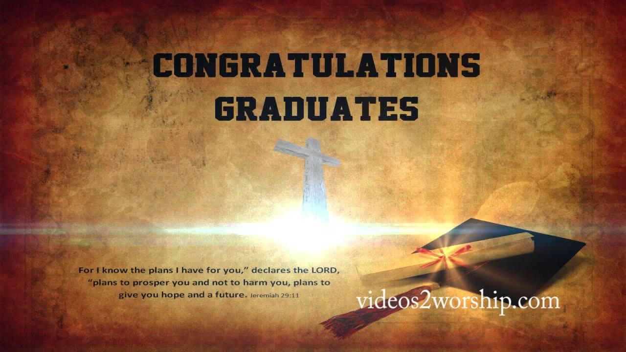 Graduation Background Cross And Jeremiah 29:11 - YouTube