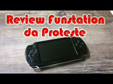 Review do Funstation da Proteste (Retro emulador portátil)!!!