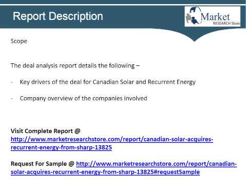 Canadian Solar Acquires Recurrent Energy from Sharp   Deal Analysis from GlobalData