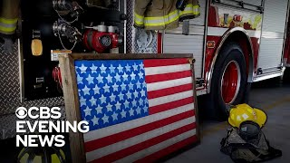 Firefighter turns old fire hoses into works of art