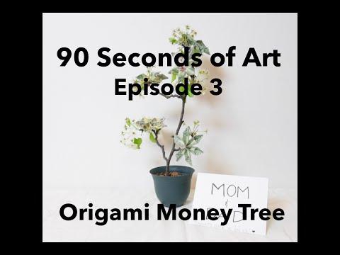 Money Tree: Origami Money Flowers - Gift Idea