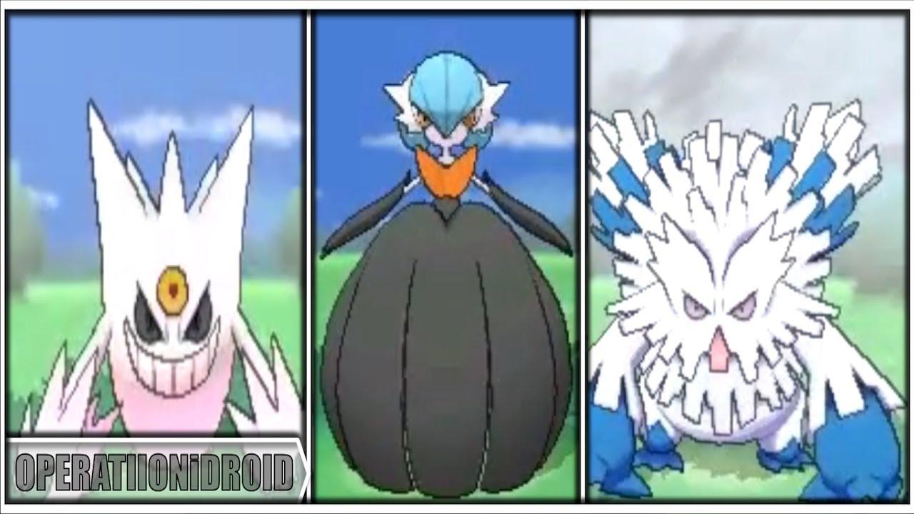 Pokemon X And Y All Shiny Mega Evolutions Youtube
