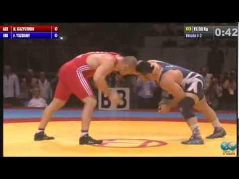 2013 - Senior World Championship - Budapest (HUN) - Wrestling (AZERBAIJAN) Khetag GAZYUMOV (IRAN R.I.) Reza YAZDANI.