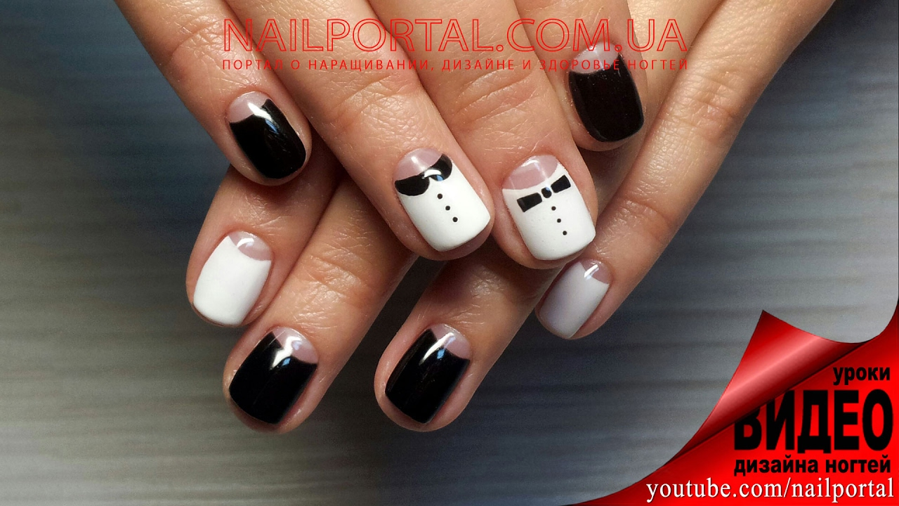 Дизайн ногтей гель-лак Shellac - Маникюр Dior / Лунный маникюр, роспись, видеоуроки дизайна ногтей