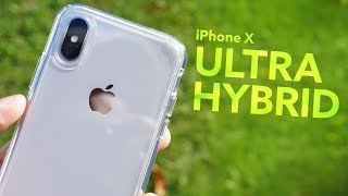 iPhone X Spigen Ultra Hybrid Case Review! - Crystal Clear