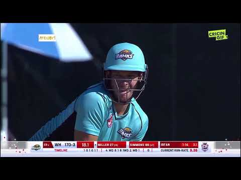 David Miller 60 off 28 balls - 4 sixes, 6 fours - GT20Canada 2018