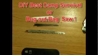 Best Camp Survival Bug out Bag  Saw