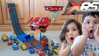 Unboxing New Disney Cars Toys XRS Big Airdrop Playset Lightning McQueen Next Gen Leak Less