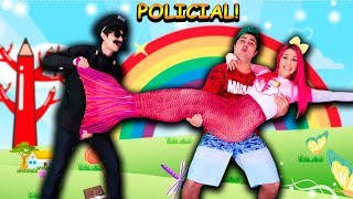 A SEREIA FOI PRESA POR UM POLICIAL - The mermaid pretend play with police