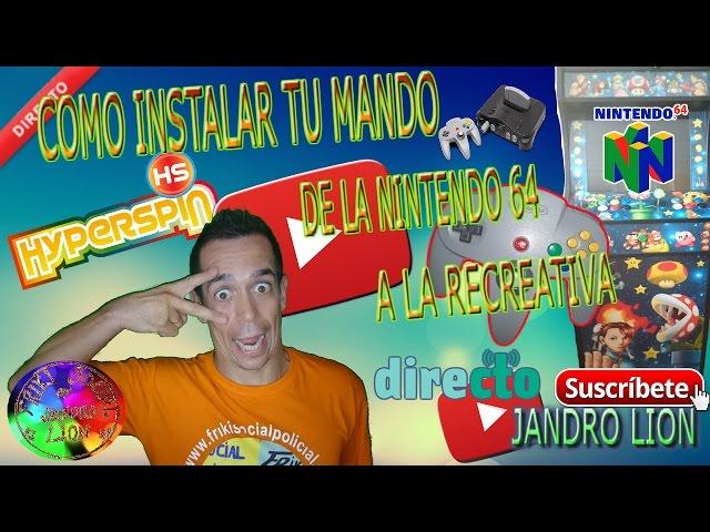 Como instalar un mando a la recreativa para el emulador de Nintendo 64. #frikiretrogamer