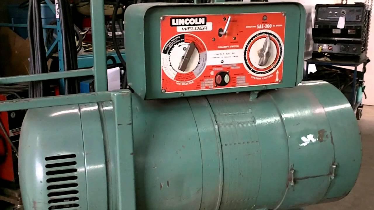 Lincoln Shield Arc Sae 300 Dc Welder Youtube