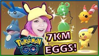 HATCHING NEW SHINY 7KM EGGS in POKÉMON GO!
