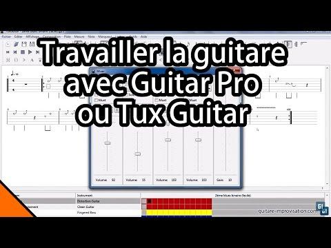 Travailler la guitare avec Guitar Pro (ou Tux guitar)