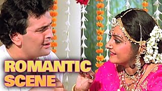 Rishi & Jayapradha First Night Romance   Romantic Scene   Dhartiputra   Mammootty, Rishi Kapoor   HD