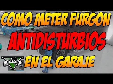 TRUCO GTA V ONLINE: Como meter furgon antidisturbios blindado de policia en el garaje