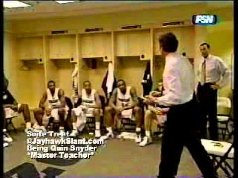"Quin Snyder teaches being ""Tiger Tuff."" Need I say more?"