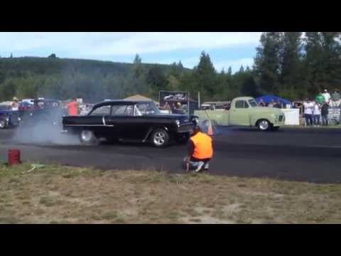 STUDEBAKER PICKUP VS. 55' CHEVY BILLETPROOF ERUPTION DRAGS TOUTLE, WA 2013