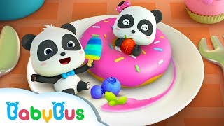 Colorful Donuts Love Dancing | Dessert Song Compilation | Kids Songs | BabyBus