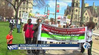 Southern Poverty Law Center's May Day Commie Dumbed Down Kids & Friends Demo In Detroit