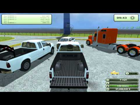 Farming Simulator 2013 Mods - Ford F-350 and Kenworth Semi
