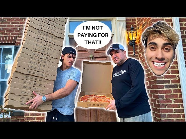 ORDERING 100 GIANT PIZZAS TO MY BROTHERS HOUSE! cops almost called