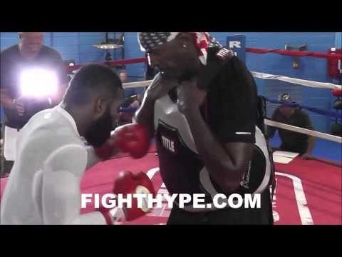 ADRIEN BRONER BLASTS THE BODY SHIELD DURING FINAL INTENSE DAY OF TRAINING