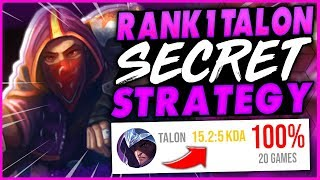 RANK 1 TALON GIVES THE SECRET TO CARRYING LOW ELO (CARRY EVERY GAME) - League of Legends