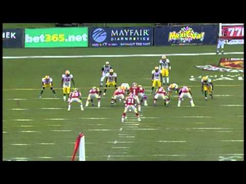 Henry Burris 9 yard touchdown pass - August 15, 2010