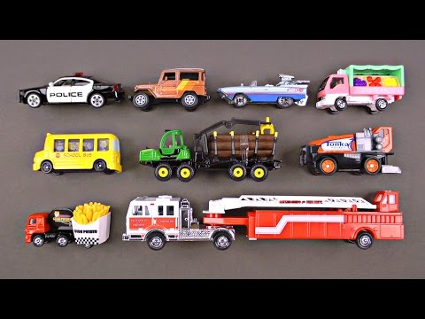 Best Learning Cars Trucks Street Vehicles for Kids - #1 Hot Wheels, Matchbox, Tomica トミカ Toy Cars