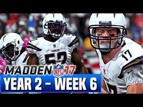 Madden 17 Chargers Franchise Year 2 - Week 6 @ Patriots - Ep.29