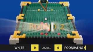 World Championship Snooker 2013 in LEGO