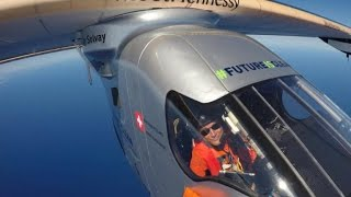 Solar plane finishes flight across Pacific