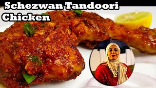 Chicken Schezwan Tandoori l  Cooking with Benazir