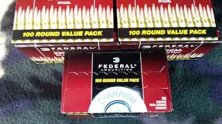 Federal 100rd value pack ammo score at Wal-Mart