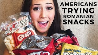 AMERICANS TRY ROMANIAN SNACKS 🇷🇴