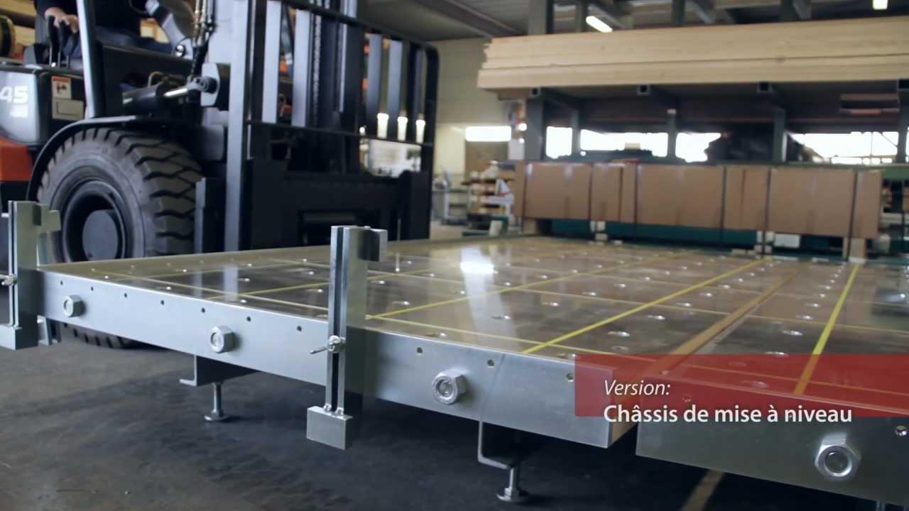 Table de montage ossature bois woodtec youtube for Table tv bois