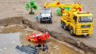 Assembly Disney Car Lighting McQueen Police Car, Crane Truck, Rescue Car Toys For Children