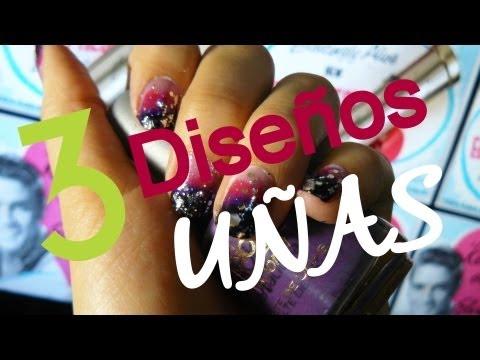 Diseño de uñas! 3 diseños en un solos video! ♥