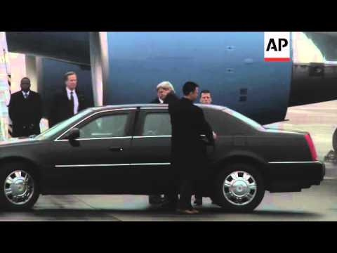 Secretary of State Kerry arrives to show support for fledgling government