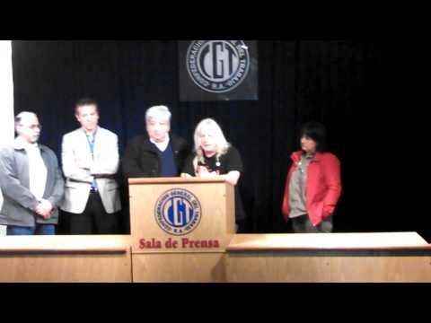 Conferencia de Prensa en la CGT de los Ferroviarios del Sarmiento