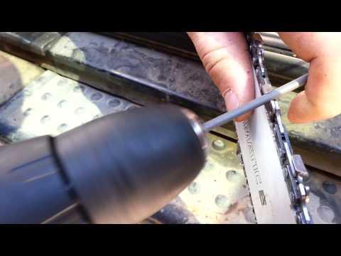 Заточить цепь бензопилы своими руками