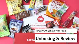 Love With Food Review January 2019: Snack Subscription Box