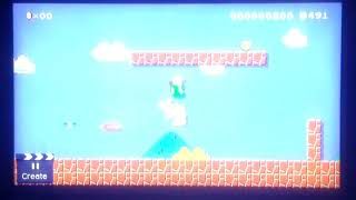 Super Mario Maker Toadette defeats Bowser when the announcer says Foul Ball