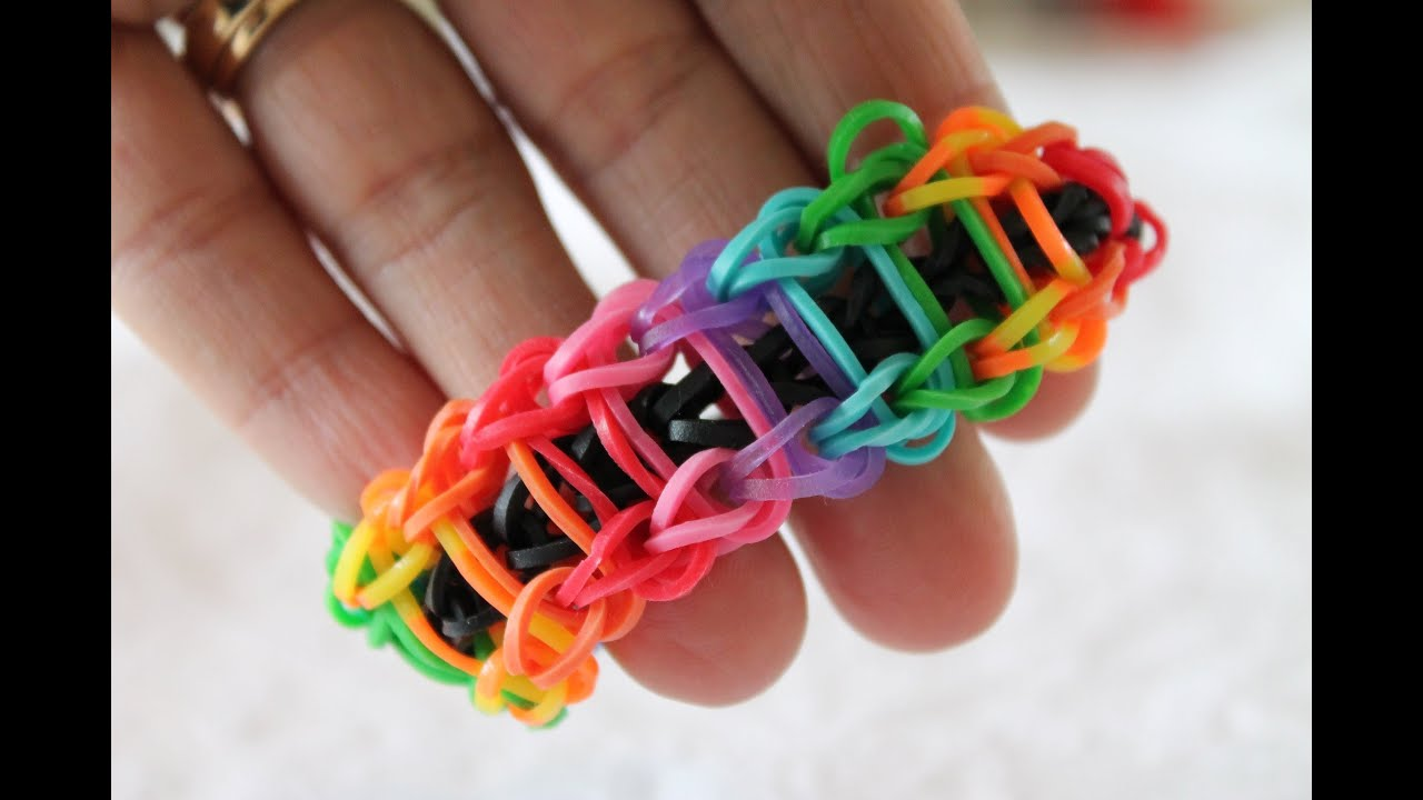 how to make a ladder loom band with your fingers
