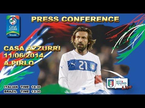 La conferenza stampa di Andrea Pirlo - Mondiali 2014 (11 giugno 2014)