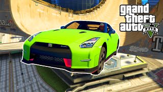 GTA 5 PC Mods - NISSAN GTR NISMO MOD STUNTS & RAMPS! GTA 5 GTR Car Mod Stunt & Funny Moments!